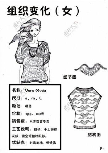 组织变化针织服装设计