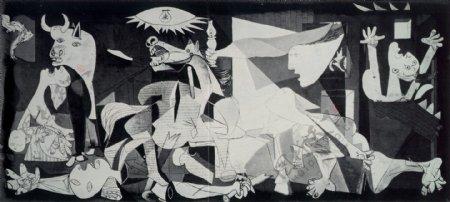 1937Guernica1西班牙画家巴勃罗毕加索抽象油画人物人体油画装饰画