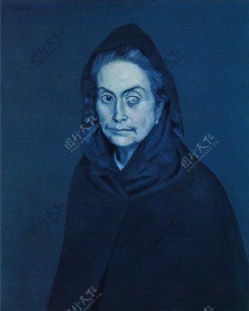 1904LaC淇礶stine2西班牙画家巴勃罗毕加索抽象油画人物人体油画装饰画
