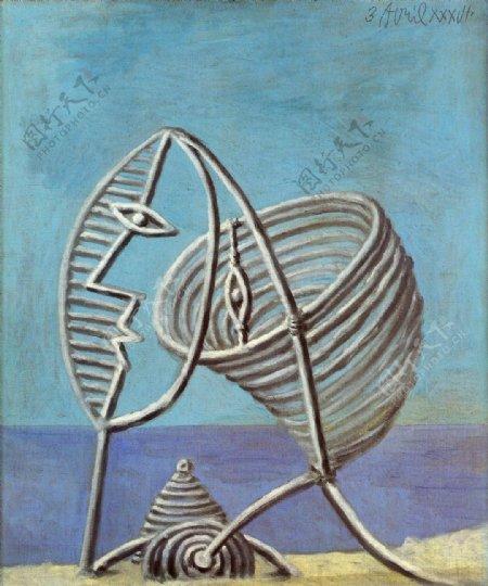 1936Portraitdejeunefille1西班牙画家巴勃罗毕加索抽象油画人物人体油画装饰画