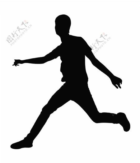 跑步的人的剪影