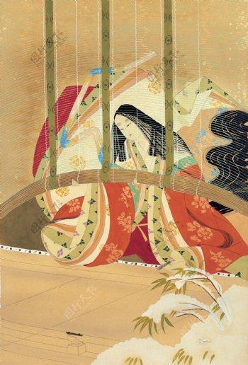绘画书法东洋侍女