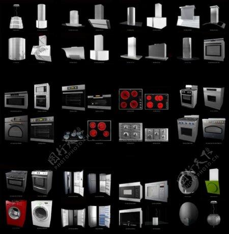 厨房电器模型合集图片