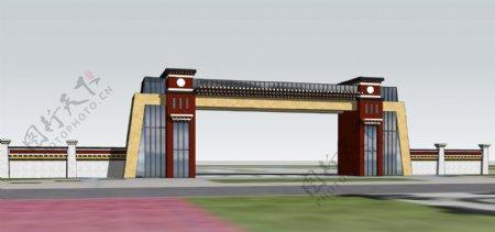 藏区大门设计图片