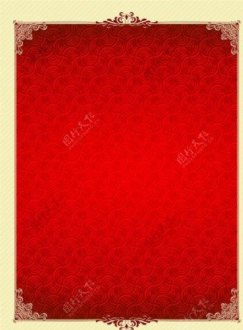 红色底纹花边图片