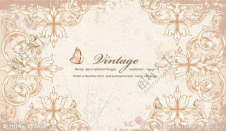 古典花纹花朵蝴蝶图片