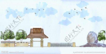 景观大门设计图片