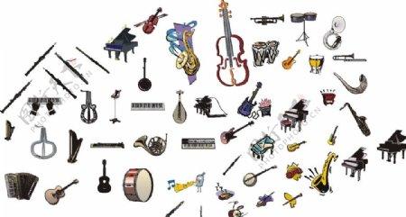 音乐素材及乐器图片