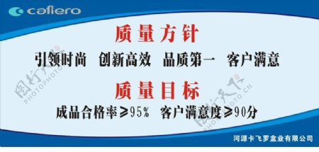 ISO质量方针宣传牌
