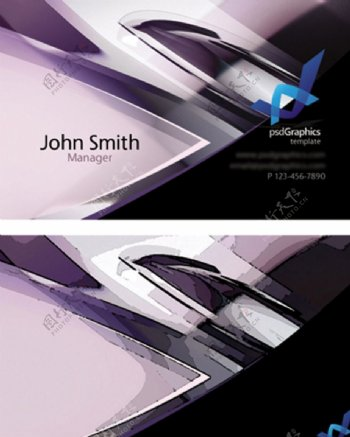 科技金属质感名片设计模版