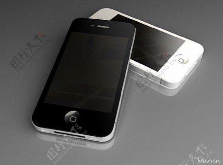 苹果手机3D模型iphone4图片