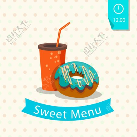美味甜菜单图片