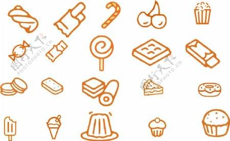 零食类创意小图标素材