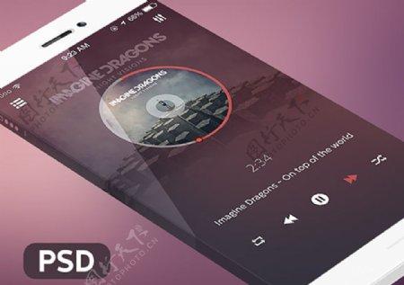 iOS7音乐界面PSD分层素材