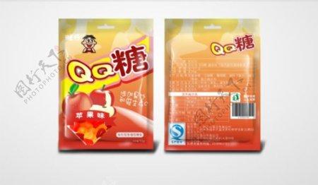 QQ糖苹果味原创包装设计