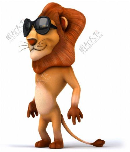 戴眼镜的卡通狮子