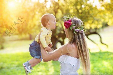 开心母女图片