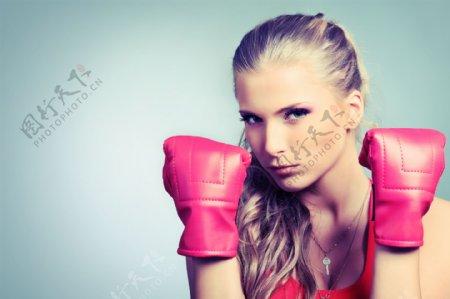 美女拳击手图片