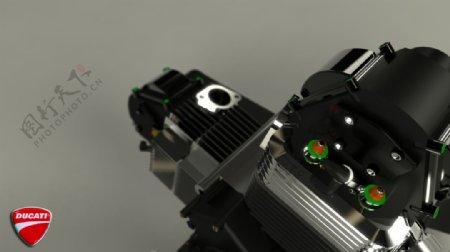 杜卡迪V2由喀麦隆瑞德渲染引擎