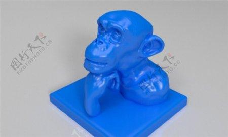 思考的猩猩3D打印模型