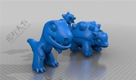 恐龙玩偶3D打印模型