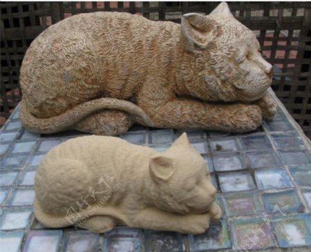 睡觉的猫猫3D打印模型