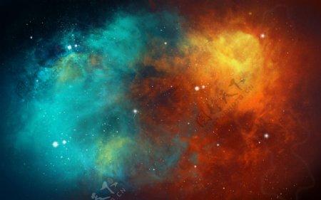 宇宙星空广告设计模板