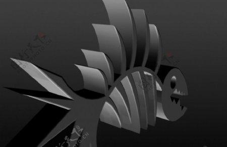鱼骨3D打印模型