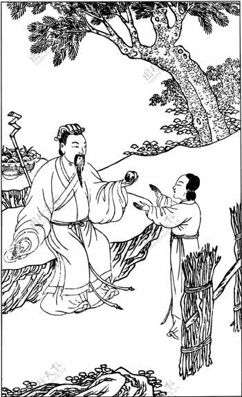古版画教化类人物画矢量EPS格式0468
