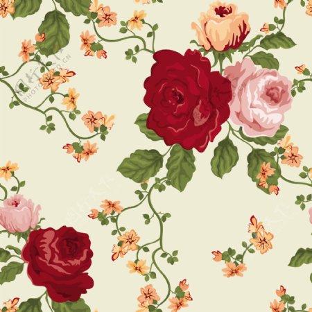 矢量玫瑰花朵