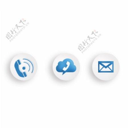 商务ico图标蓝色
