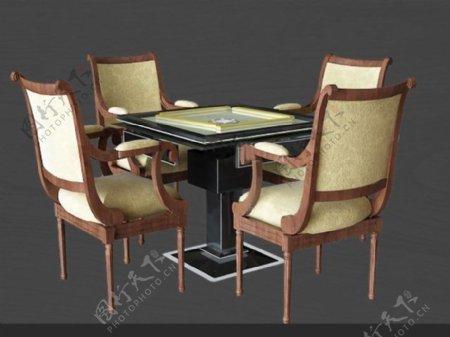 麻将桌3D模型图片