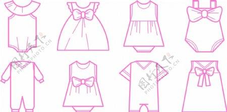 免费婴儿时尚图标矢量