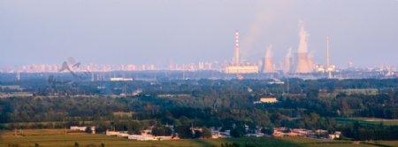 工业生产城市背景图片