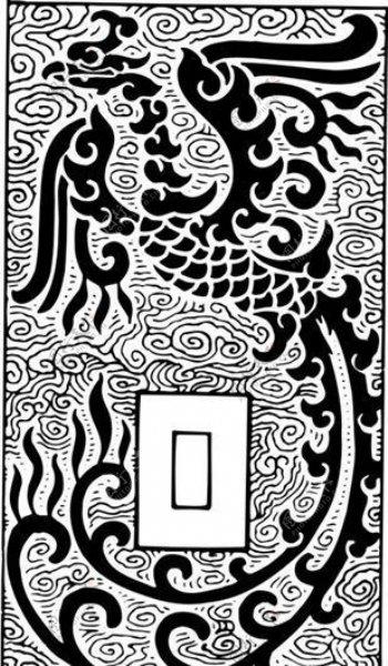 清代下版画装饰画中华图案五千年矢量AI格式0519