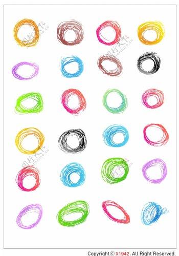 笔刷设计应用背景图案矢量素材AI格式0298