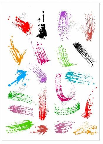 笔刷设计应用背景图案矢量素材AI格式0323