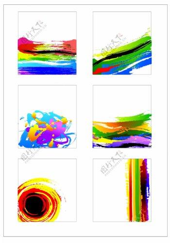 笔刷设计应用背景图案矢量素材AI格式0340
