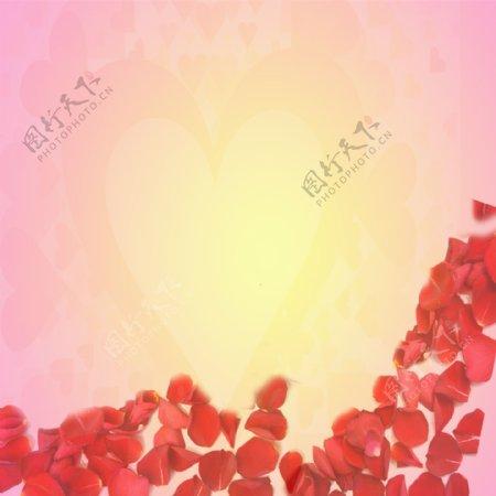 玫瑰花瓣背景