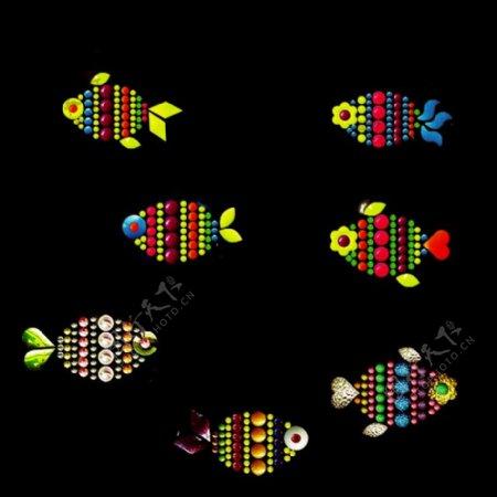 烫钻动物海洋生物鱼免费素材