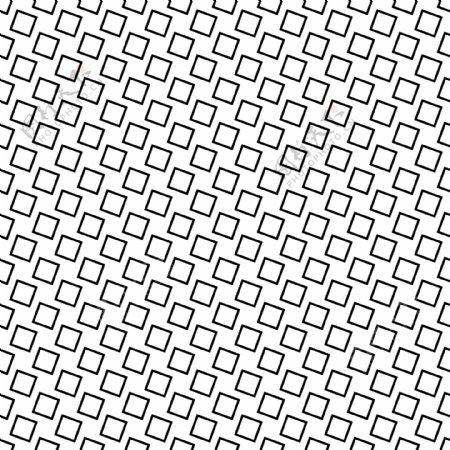 单色无缝抽象正方形图案背景从角正方形的黑白几何矢量设计