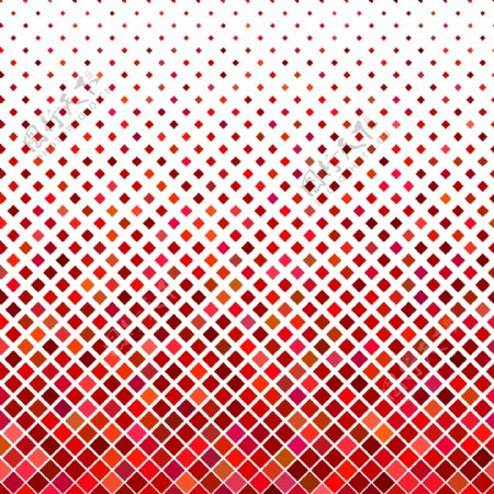 对角线正方形图案背景从红色色调的正方形的几何矢量图形