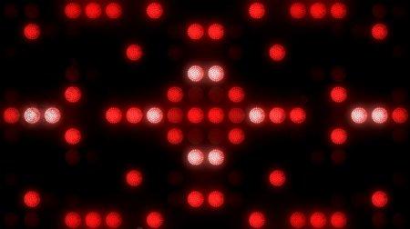 红色LED屏幕灯光背景动态VJ素材