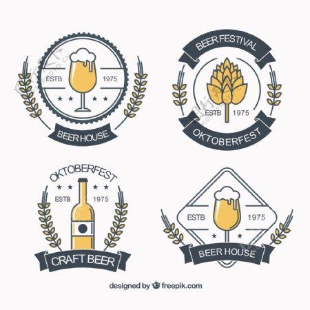 啤酒节徽章复古包