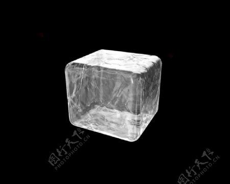 一个透明的冰块免抠png透明图层素材