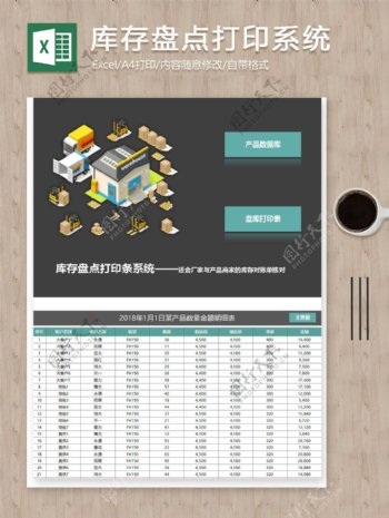 厂家产品商家库存盘点打印系统