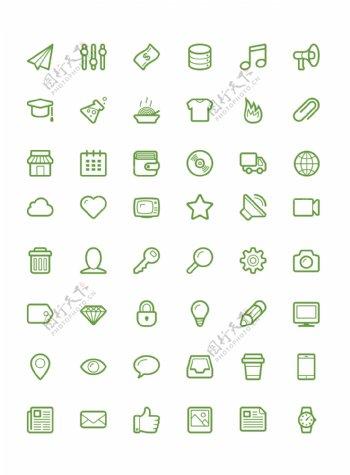 48个生活素材icons