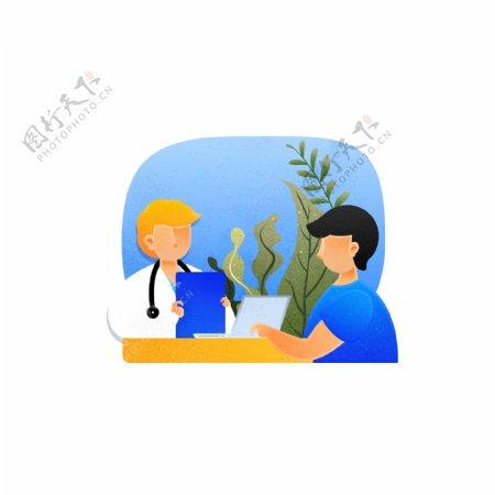 医疗医生听诊器病人患者生病看病问诊咨询