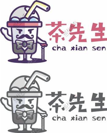 茶先生logo商标设计