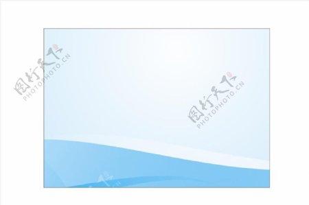 空白接机牌蓝色背景模板